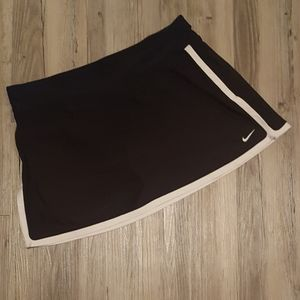 Nike Black/White Dri-Fit Tennis Skirt/Skort